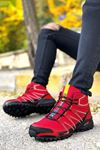 Boy Uzatan Gizli Topuk Kırmızı Outdoor Trekking Erkek Bot